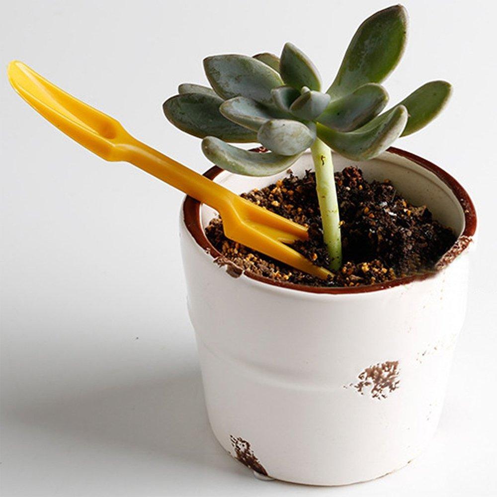 jooks Mini Samen Pflanzen Pikierstab Schaufel S/ämling Bepflanzen Pflanzmaschine Kunststoff Umpflanzen Schaufel Garten Pflanzen Handwerkzeuge 2/gelb