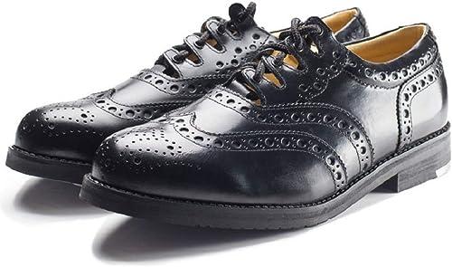 Leather Ghillie Brogue Kilt Shoes