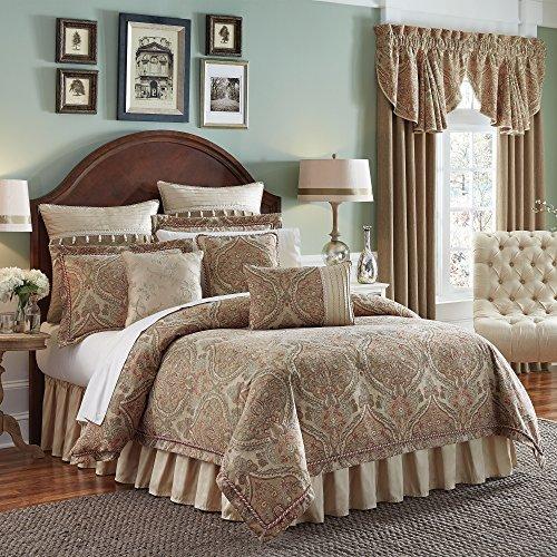 Comforter Jacquard Croscill (Croscill Birmingham King Comforter Set, 4 Piece)