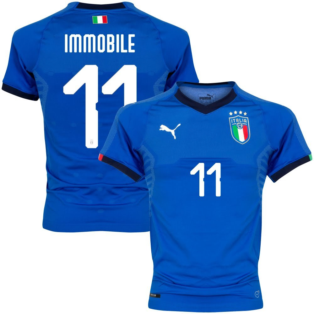 Italien Home Authentic Evoknit Trikot 2018 2019 + Immobile 11