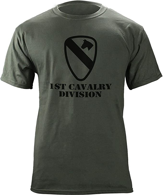 US Army Veteran 1st Cavalry Mens Fashion Short Sleeve Tee Shirt