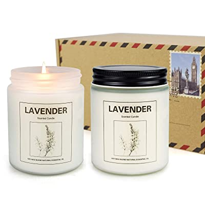 Lavender Gift Highly Scented Set of 2 Soy Wax Candle Pot of Fragrance