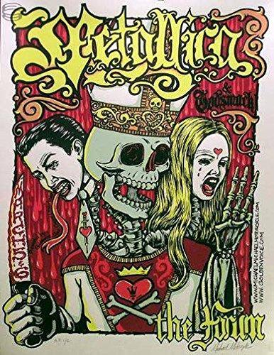 (oddtoes concert posters and music memorabilia Metallica Poster w/Godsmack Signed & Numbered Original)