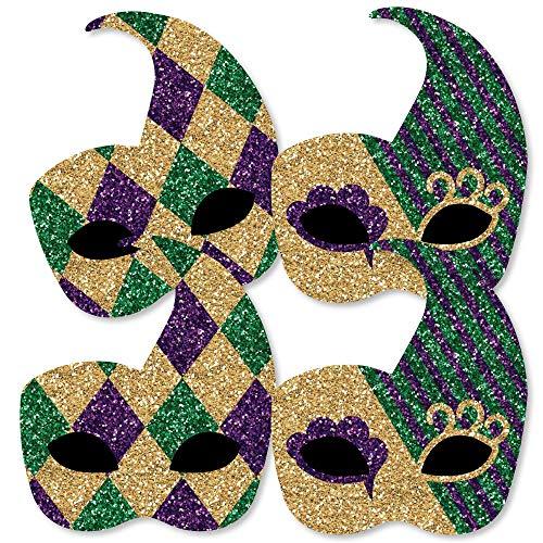 (Mardi Gras - Mask Decorations DIY Masquerade Party Essentials - Set of)