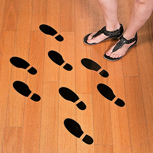 Set of 16 LARGE SHOE FOOTPRINT FLOOR DECAL CLINGS! ~ 16 Foot Prints ~ -