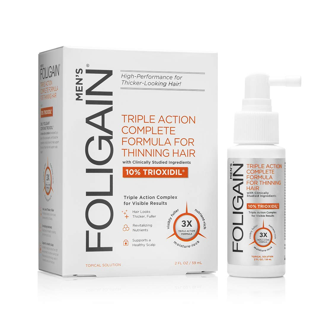 FOLIGAIN Intensive Targeted Treatment For Thinning Hair For Men with 10% Trioxidil (2oz) 59ml WR GROUP INC