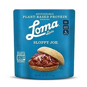 Loma Linda Blue - Plant-Based Meal Solution - Sloppy Joe (10 oz.) (Pack of 6) - Non-GMO, Gluten Free