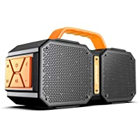 Bugani 30W IPX5 Waterproof Portable Bluetooth Speakers with TF Card Slot and 3.5mm Aux Jack (Black)