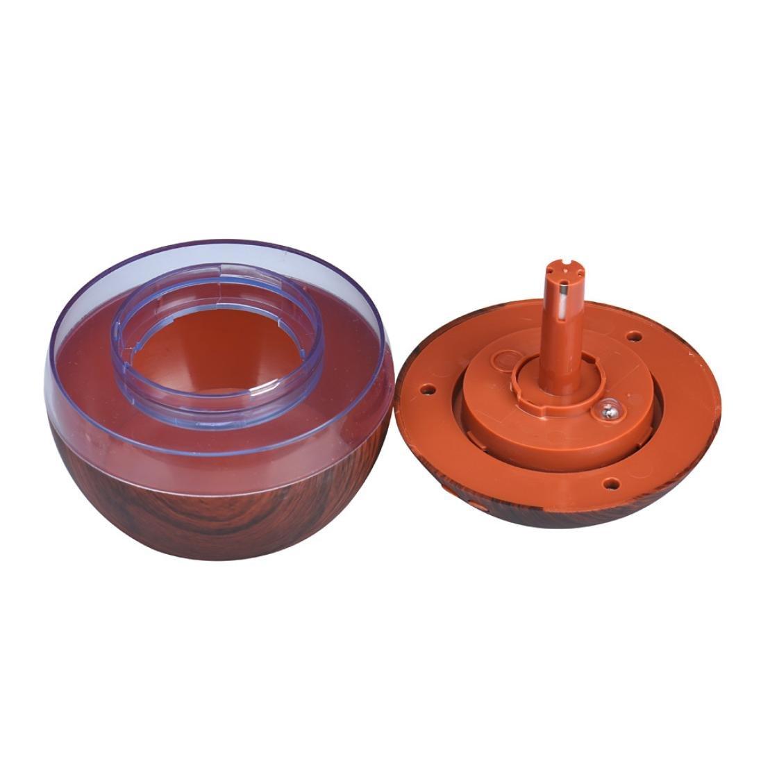 Humidificadores,Longra 300ML USB Air Aroma Difusor de Aceite Esencial LED Ultrasonido Aroma Aromaterapia Humidificador (Caqui)