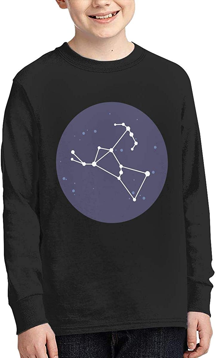 Teenagers Teen Girl Orion Constellation Printed Long Sleeve 100/% Cotton T-Shirts
