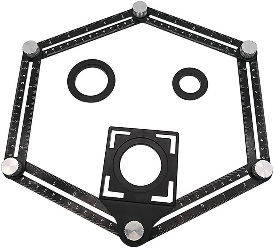Angleizer modèle Six-verso en Alliage d/'Aluminium Angle Ruler outil de mesure