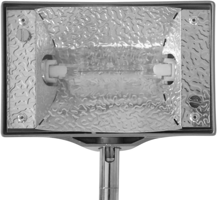 Set of 2 Vispronet 150w Halogen Spot Lights with Bulbs and Adapters for Trade Show Displays and Pop Up Booth Podiums Gray