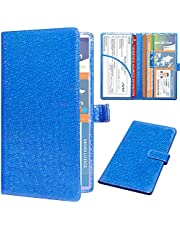 DMLuna Car Registration and Insurance Holder, Leather Vehicle Card Document Glove Box Organizer, Auto Truck Compartment Accessories for Essential Information, Driver License Cards
