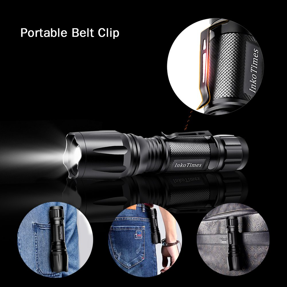 InkoTimes LED Flashlight - i1800S Powerful Waterproof Flashlight - Best for Home, Biking, Camping, Outdoor, Emergency (Batteries Not Included) by InkoTimes (Image #4)