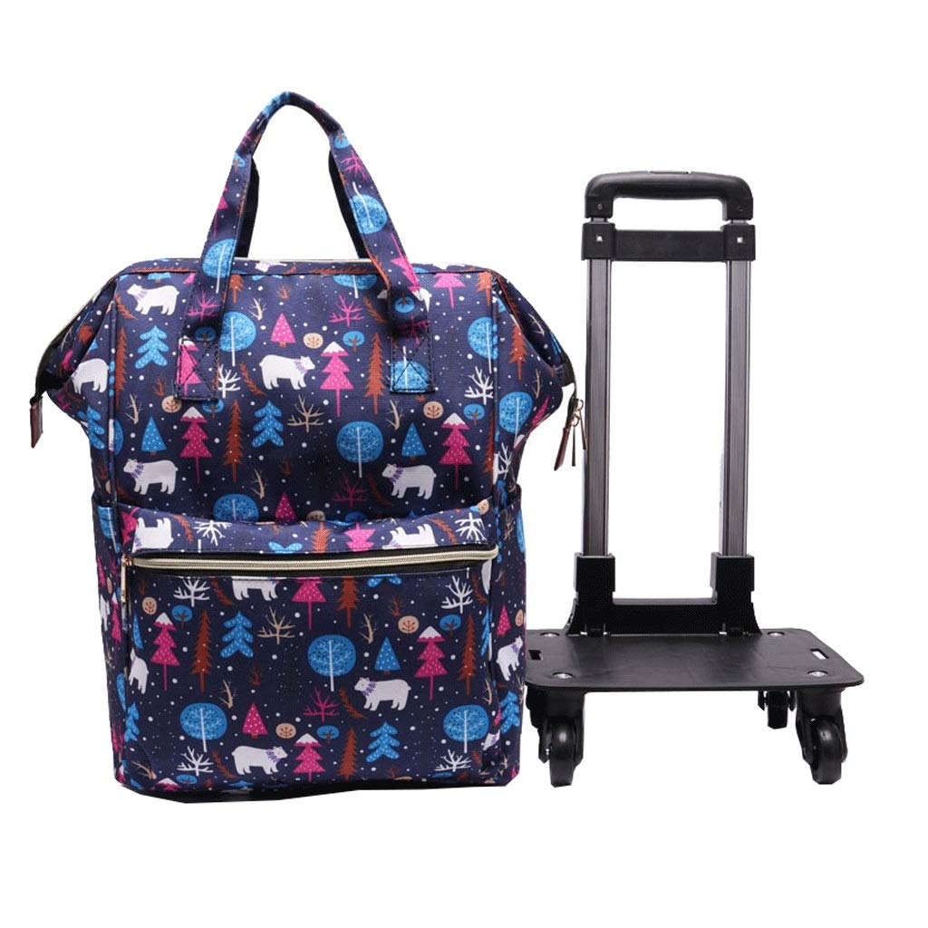 hand bag day trips Cooralledtooere Folded short-distance duffel bag perfect for weekend trips boarding case small fresh and light luggage bag short-distance business double-shoulder travel bag