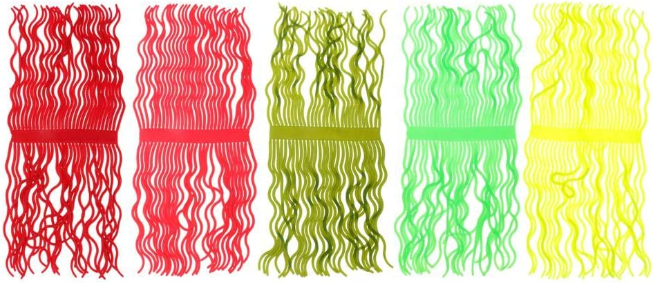 Homyl 1 Bunch with 60 Pieces Legs Fly Tying Worm Body Squirmy Wormy Lure Material Durable to Use