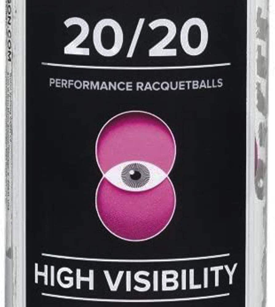 3 Ball Can Wilson 20//20 Racquetball Pink