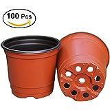 BESTOMZ 100 pezzi di plastica pianta vasi di fiori/10 cm semi, perfetto per giardinaggio