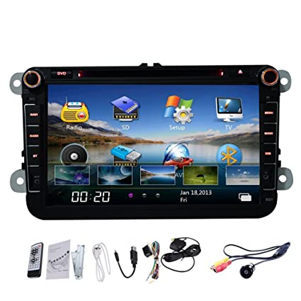 TV bluetooth MP3 Automotive Pupug 8 pulgadas de coches FM / AM GPS DVD Reproductor de