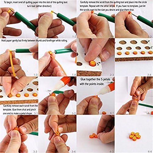 Paper Quilling Set 600 Strips 30 Colors 39cm//54cm// Length//strip Paper Width 7...