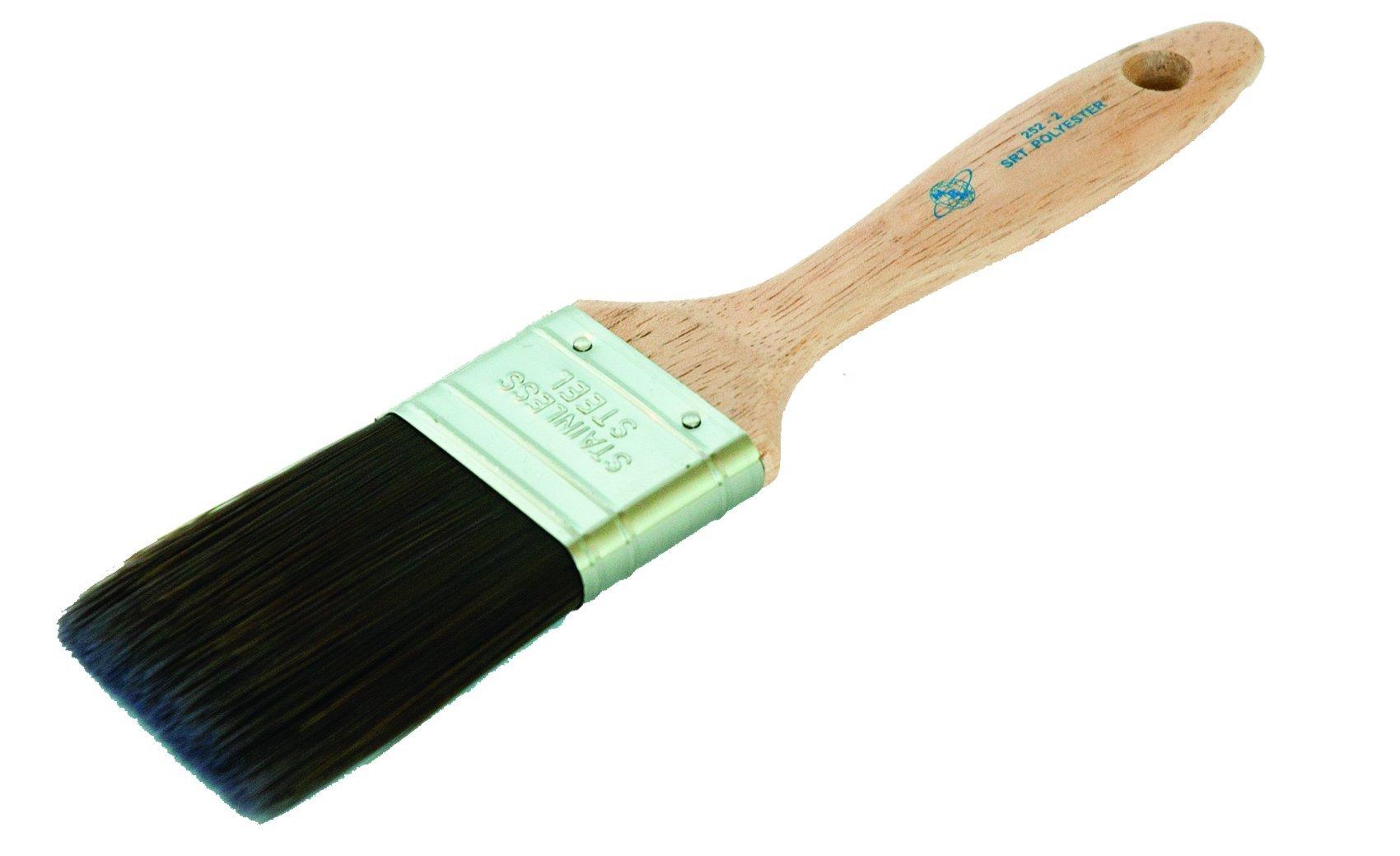 Magnolia Brush 252-2.5 SRT Professional Beavertail Paint Brush, Polyester Bristles, 2-1/2'' Bristle Width (Case of 12)