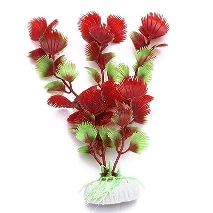 WopenJucy Plantas Artificiales para Acuario, cáscara de Hierba, Flores Decorativas para pecera, decoración