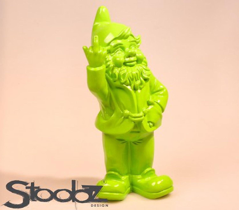 Stoobz PP 005LI 15x 12x 32cm, Statuetta, nanetto Irriverente per casa e Giardino–Color Lime