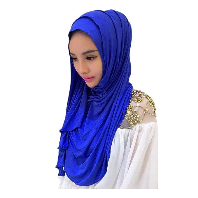 ... Estolas y fulares Pañuelos para la Cabeza Mujer Tapa del Cilindro Estirar las Vendas Mantones árabes de Dubai Islámicos: Amazon.es: Ropa y accesorios