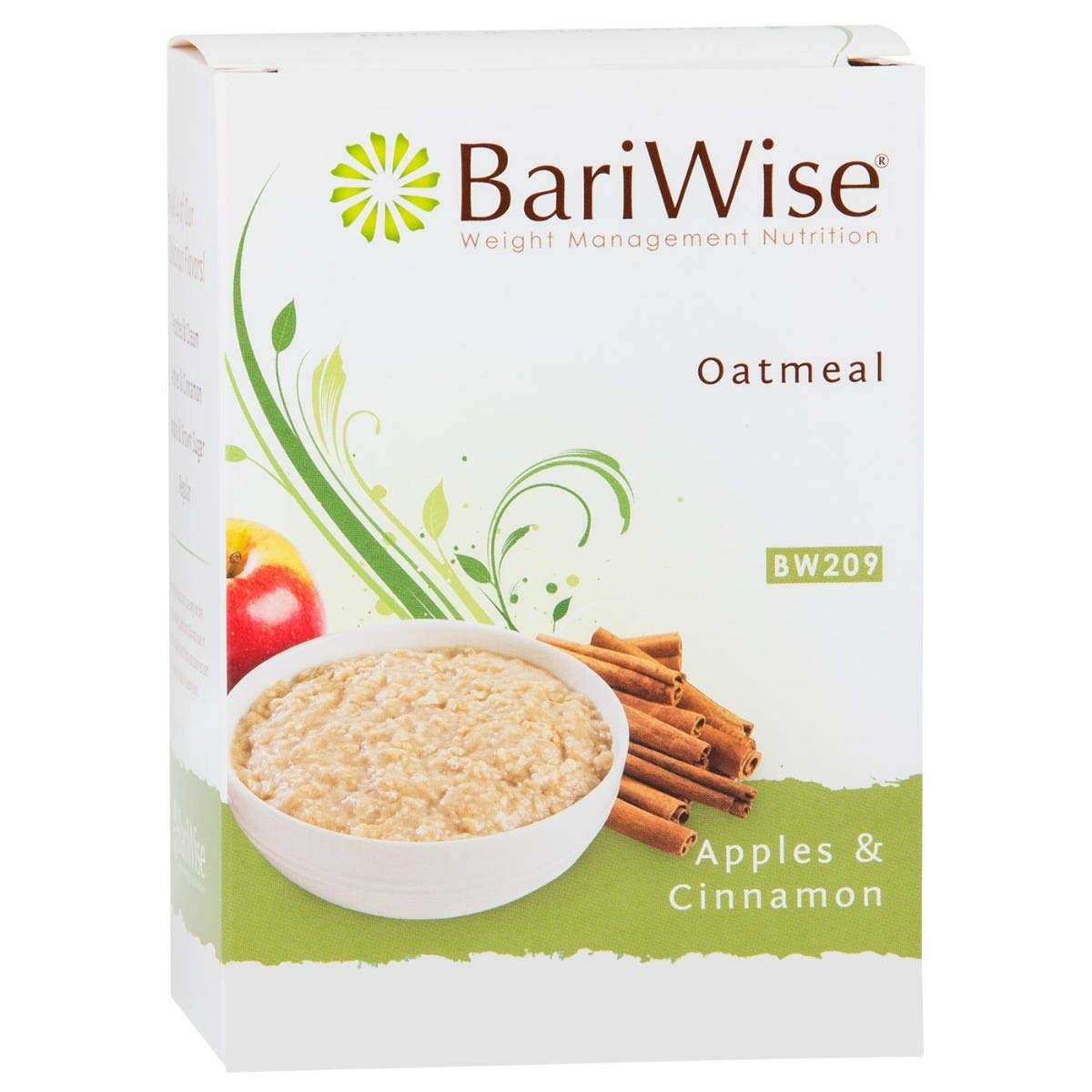 BariWise Low-Carb High Protein Oatmeal / Instant Diet Hot Oatmeals - Apples & Cinnamon (7 Servings/Box) - Low Carb, Low Calorie, Low Fat, Aspartame Free