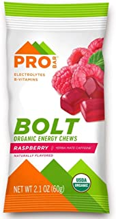 product image for PROBAR - Bolt Organic Energy Chews, Raspberry, Non-GMO, Gluten-Free, USDA Certified Organic, Healthy, Natural Energy, Fast Fuel Gummies with Vitamins B & C (12 Count)
