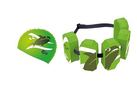 Beco Niños flotador Juego – Cinturón flotador Sealife y silicona Gorro Sealife verde