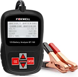 Foxwell BT100 12V Battery Load Tester 100-1100 Cold Cranking Amps Auto Battery Tester