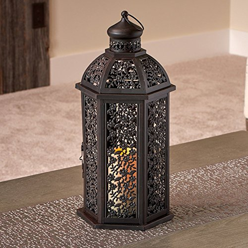 Smart-Design-Valencia-20H-in-Lantern-with-LED-Candle