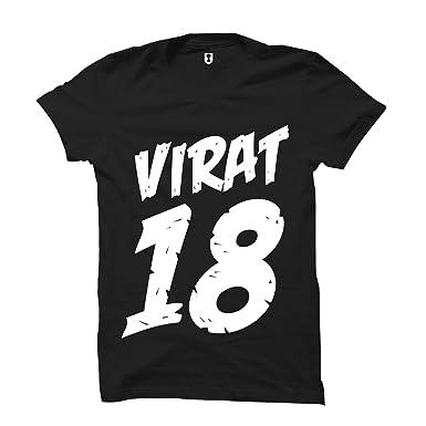 602341f4 Uniplanet Store Virat Kohli Black Number T-Shirt | Eighteen Number T Shirt