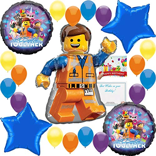 Lego Movie 2 Deluxe Balloon Decoration Bundle for (Any -