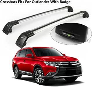 Chebay Fits for Mitsubishi Eclipse Cross 2018 Crossbar Cross bar Roof Rail Rack Silver