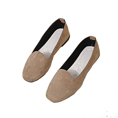 first look attractive price info for TeamWorld Womens Pointed Toe Ballet Flats Suede Leather ...