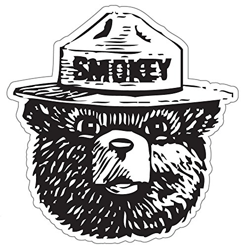 Smokey the bear firefighting wildfire sticker 4 x 4