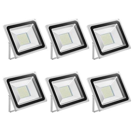 Foco LED 100W, 10000LM Blanco Frío 6000K, Reflector Foco Proyector ...