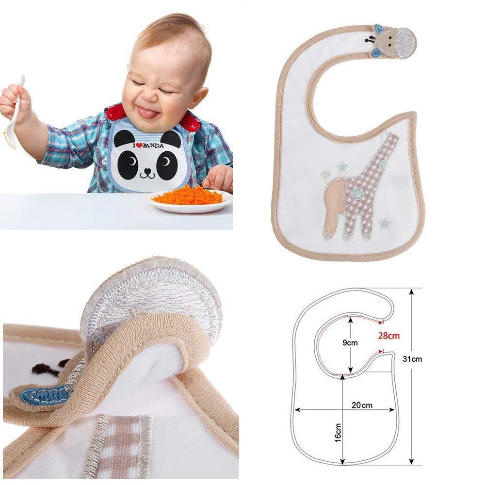 SLOSH 12 Baberos Impermeables Bebe Bandana Velcro para Recien Nacido Unisex 12pcs