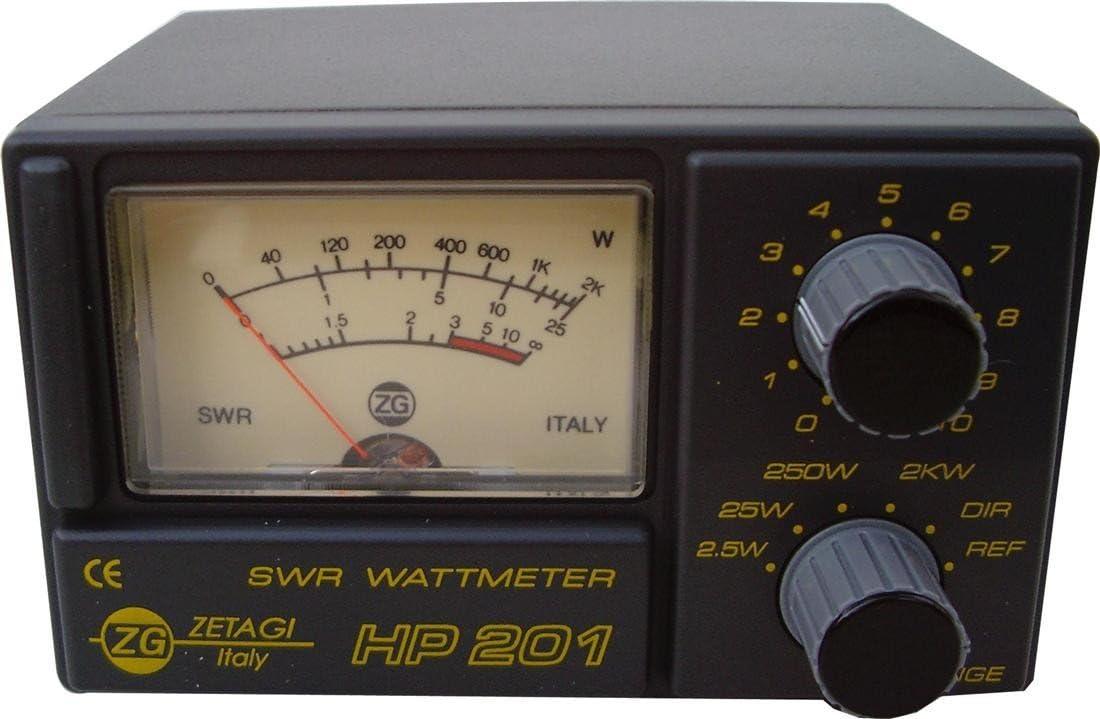 Zetagi HP201 SWR/horrendamente medidor de Potencia 2kW 3-200 MHz: Amazon.es: Electrónica