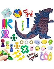Sensory Fidget Toys Set(38 Piece) Stress and Anxiety Relief Tool Set Suitable for Children and Adults Stress Relief and Anti-Anxiety Toys Assortment, Special Puzzle Balls Party Favors
