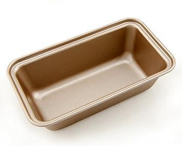 Cami caja molde para tostadas con pan pastel repostería rectangular (acero al carbono, revestimiento antiadherente champán: Amazon.es: Hogar