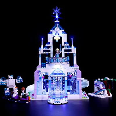 RAVPump Light Set for Disney Princess Elsas Magical Ice Palace Blocks Model - LED Light Kit Lighting Kit Compatible with Lego 41148 (ONLY Light Set): Toys & Games