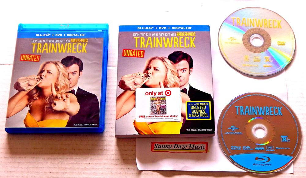 Amazon com: TRAINWRECK 2-Disc DVD and Blu-Ray SLIPCASE Edition