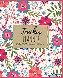 picture about Teacher Plan Books called 2019-2020 Instructor Planner: Magnificent Crimson Floral Lesson Planner