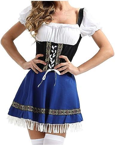 Allegorly - Vestido Tradicional de Tirolesa para Mujer, para ...