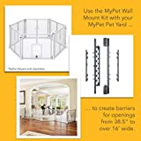 North States MyPet Petyard Wall Mount Kit for MyPet Play Yards, Superyards or 2-Panel Extensions: Hardware to Create an Extra-Wide Barrier