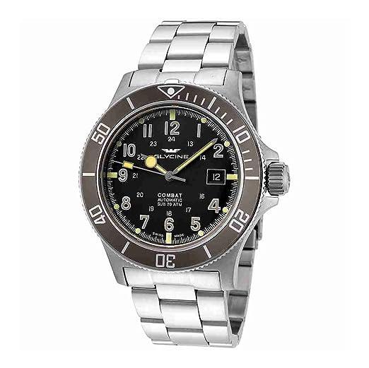 Glycine Combat SUB automático negro Dial Mens Reloj gl0076: Amazon.es: Relojes