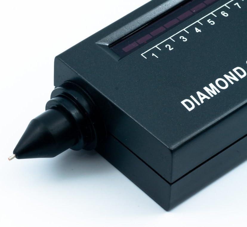 QUMOX Portable Diamond Selector II V2 Gemstone Tester Tool 60X LED Loupe
